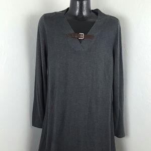 Soft Surroundings women gray long sleeve dress